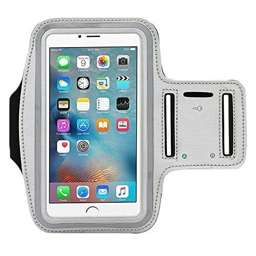 Price comparison product image [1 Pack]Premium Water Resistant Sports Armband with Key Holder for iPhone 7, 6, 6S (5.5-Inch), Galaxy s6,s7,S3/S4, iPhone 5/5C/5S, Bundle with Screen Protector Full Access to Touch Screen
