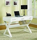 Coaster Casual 3 Drawer White Writing Desk