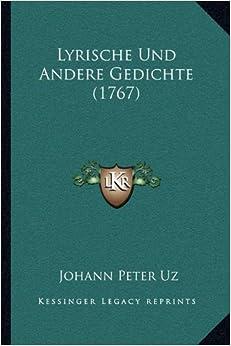 Lyrische Und Andere Gedichte (1767) (German Edition)