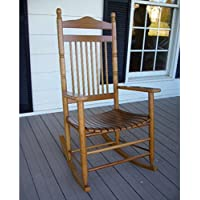 Standard Slat Porch Rocking Chair in Medium Oak Finish