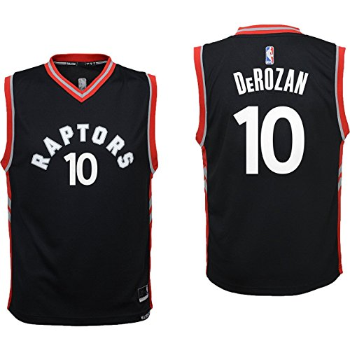Outerstuff DeMar DeRozan Toronto Raptors #10 Black Youth Alterante Replica Jersey Medium ()