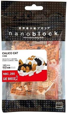Tweezers Plastic Cube Building Blocks 140 pcs Nanoblock Calico Cat