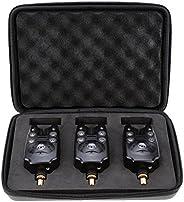 Lixada LED Fishing Bite Alarms for Fishing Rod Adjustable Tone Volume Sensitivity Sound Indicator Alert Bell F