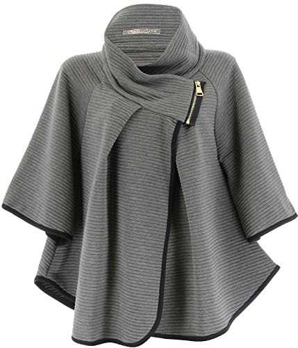 Charleselie94® - Poncho - para mujer gris