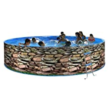 Circular swimming pool above ground 350 x 90 wall rigid lacquered Muro Promo TOI