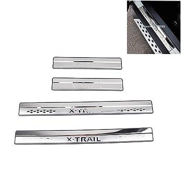 Listones de umbral de acero inoxidable para estribos protectores X-Trail T32