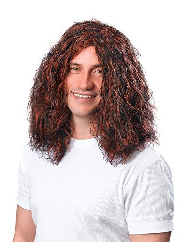 Bristol Novelty BW283 Man's Hippy Wig, Brown/Black, One Size