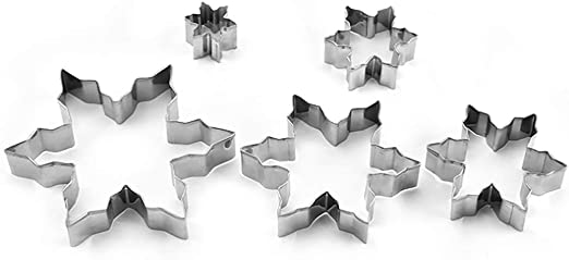 Snowflake Shaped Mini Cookie//Pastry Cutter