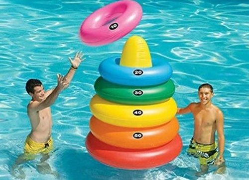 5' Water Sports Inflatable Giant Ring Toss Target Swimming Pool Game