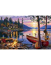 1000 Pieces Paper Jigsaw Puzzles,Buffalo Games - Darrell Bush - Canoe Lake