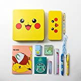 Pokemon Pikachu Cute Stationery School Supplies Box Set : Pencil Case, Mini Notebook, Multi Pen, Six-Color Necklace pen, Sharpener With Tin Case