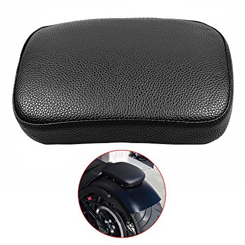 Astra Depot Synthetic Leather Pillion Pad Suction Cup Rear Seat For Harley Custom Bikes