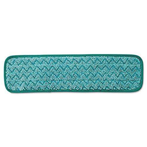 Rubbermaid Commercial HYGEN Microfiber Dust Mop Pad, 18, Green, FGQ41200GR00