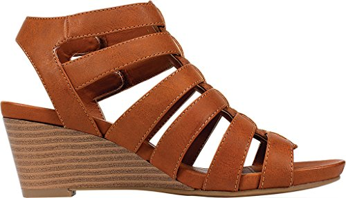 Mountain Cliffs Tan Womens Casual White VIVALDI Toe Sandals Slingback Round by 6nW16TwrxZ