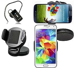 Original Franks Soporte coche + Bluetooth Auricular para Huawei Ascend Mate 7 16GB en negro Soporte coche para el móvil Nuevo