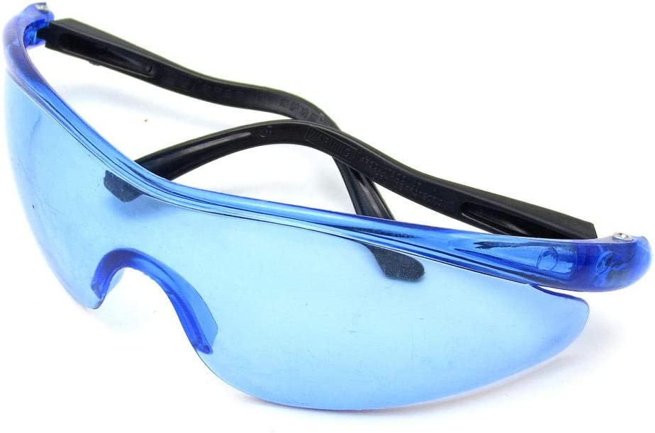 Niños al Aire Libre Gafas de protección antiexplosión a Prueba de Polvo Gafas de Seguridad Deportivas Gafas de Seguridad - Gafas Transparentes-Azul