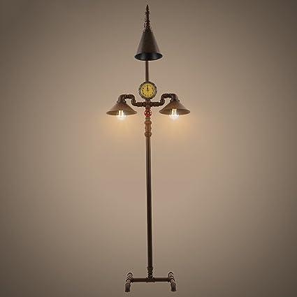 DENGJU Estilo Europeo Lámpara de pie LED Loft Living Room ...