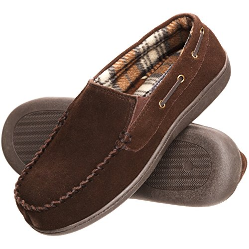 Rockport Mens Memory Foam Suede Slip On Indoor/Outdoor Venetian Moccasin Slipper Shoe Chocolate Venetian Moccasin Zutv8ky