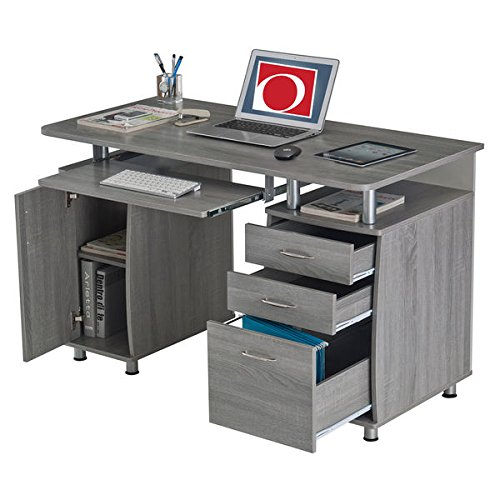 MDF Multifunctional Office Desk With File Cabinet (Mdf Office File Cabinet)