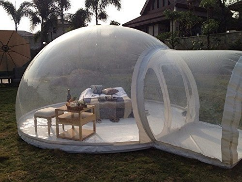 HolleywebTM Inflatable Bubble Tent House Dome Outdoor Clear Show Room with 1 Tunnel for Camping for Photo