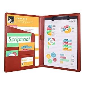 Amazon.com: Scriptract - Carpeta de archivos, tamaño A4, de ...