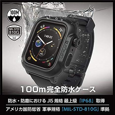 417b7fba0a Amazon   カタリスト Apple Watch Series 4 44mm 完全防水ケース ブラック CT-WPAW1844-BK    家電&カメラ オンライン通販