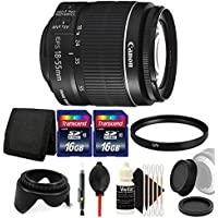 Canon EF-S 18-55mm f/3.5-5.6 IS II Lens with 32GB Ultimate Accessory Kit for Canon EOS 550D 500D 450D 400D
