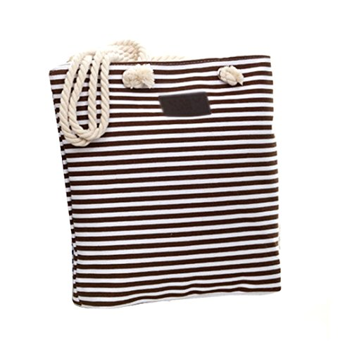 Bag Tote Ladies Stripe Blue Striped Coffee Summer Oversized Meliya Shopping Shoulder Bag Canvas Beach dXaaxH8