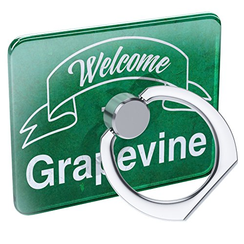 Cell Phone Ring Holder Green Sign Welcome To Grapevine Collapsible Grip & Stand Neonblond - Grapevine Pedestal