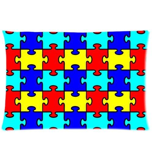 Colorful puzzle de concienciación sobre el autismo piezas ...