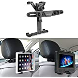 """Bedee Car Seat Headrest Mount Holder Adjustable Rotatable for Apple iPad Air/Mini/Pro, Samsumg Galaxy Tab, Kindle Fire, 7"""" to 12"""" Tablets, for Portable DVD Player DBPOWER/APEMAN/WONNIE/COOAU/FUNAVO"""