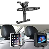 Bedee Car Seat Headrest Mount Holder Adjustable Rotatable for Apple iPad Air/Mini/Pro, Samsumg Galaxy Tab, Kindle Fire, 7'' to 12'' Tablets, for Portable DVD Player DBPOWER/APEMAN/WONNIE/COOAU/FUNAVO