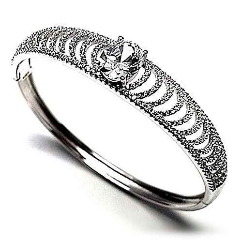 Bracelet plaqué 925m bracelet en argent rhodié Loi de zircone cubique [AB0921]