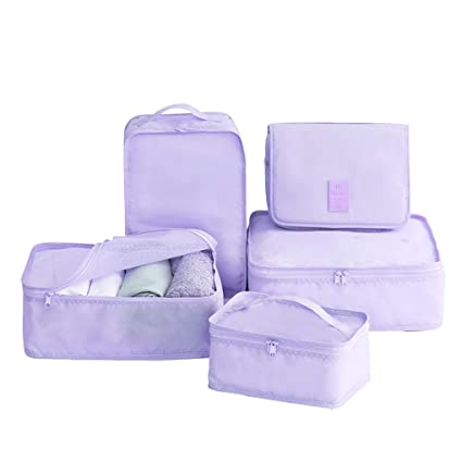 fa44aba88190 Amazon.com: Sarazong Pack of 5 Packing Cubes,Waterproof Packing ...