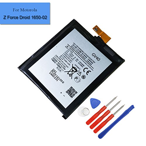 Replacement Battery GV40 Compatible with Moto Z Droid Force XT1650-02 3280mAh 3.8V Brand New Internal Battery Moto Z Force With Tools