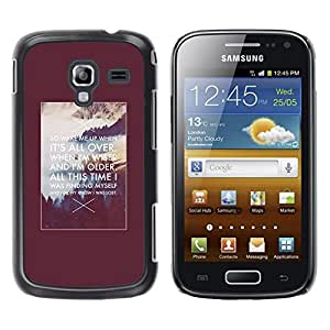 LECELL--Funda protectora / Cubierta / Piel For Samsung Galaxy Ace 2 I8160 Ace II X S7560M -- Motivational Inspiring Alaska Quote Poster --