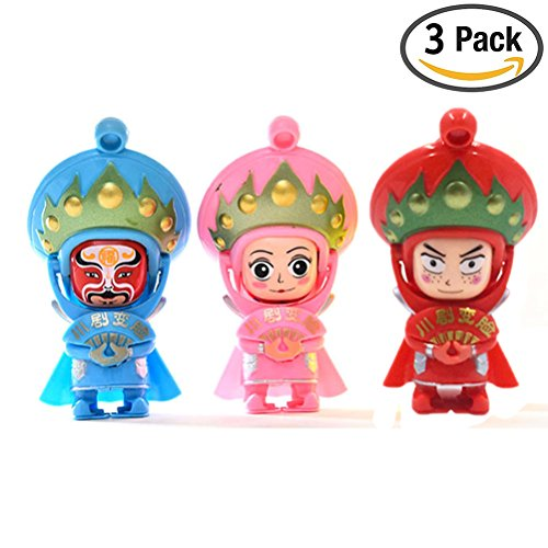 Changing Faces Dolls, 3 packs Figure Toy Sichuan Opera Traditional Chinese Opera Face, Key Chain & Mini (Chinese Opera Dolls)