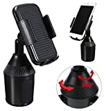 oldeagle Car Phone Holder, Universal Fashion 360 Degree Rotatable Adjustable Cup Holder Car Mount for Cell Phones Holder