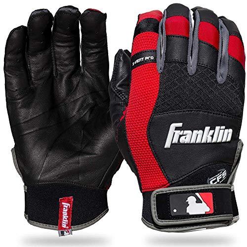 Franklin Sports X-Vent Pro Batting Gloves Black/Red Adult X-Large