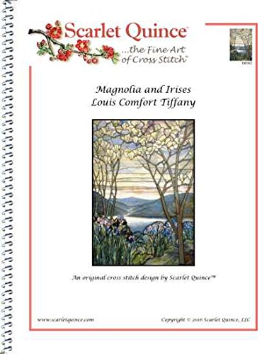 Scarlet Quince TIF002 Magnolia and Irises by Louis Comfort Tiffany Counted Cross Stitch Chart, Regular Size Symbols (Magnolias And Irises By Louis Comfort Tiffany)