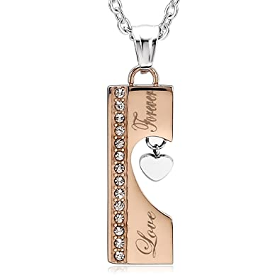Goldkette damen kreuz  Beydodo 316L Edelstahl mit Anhänger Halskette für Damen Kreuz Herz ...