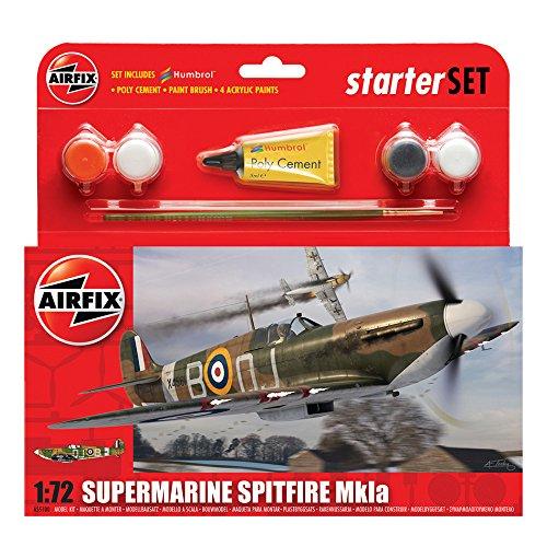Airfix Supermarine Spitfire MkIa Starter Gift Set (1:72 Scale)