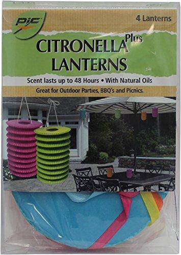 Pic Mosquito Repellent Citronella Plus Paper Lanterns (4 Pack)