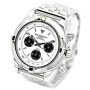 Izax Valentino Watch Chronograph White IVG-8000-4 Men's