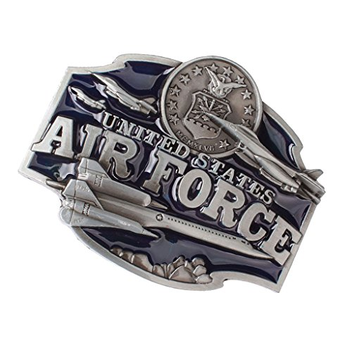 Air Force Belt Buckle (Fityle Retro Enamel Zinc Alloy United States Air Force Eagle Belt Buckle for Western men)