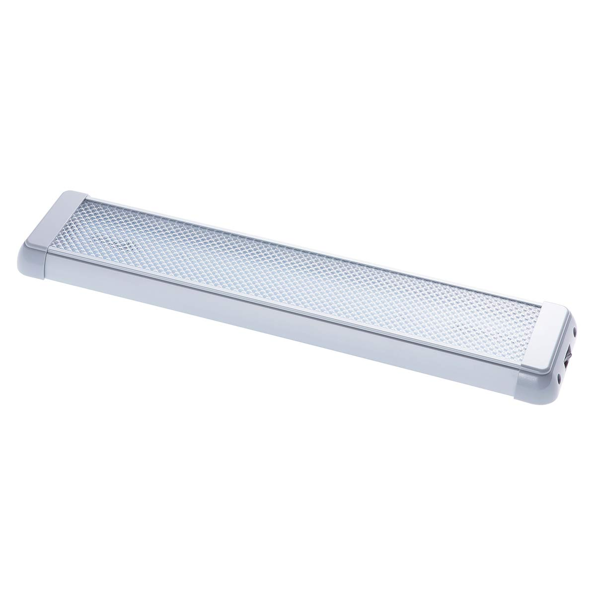 1 Pack Raycharm 14.2 Inch 12-24V 12.4W 1240 Lumen 6000K LED Light Fixture in Grey for RV