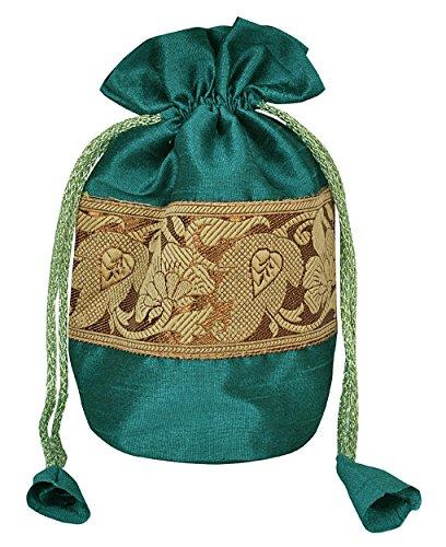 Mariage ethnique soie Jewelley cadeau Organza Pouches