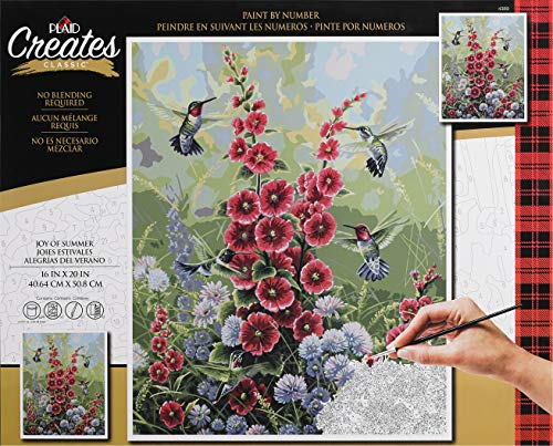 Plaid Creates 4389 Joy of Summer Paint by Number Kit, 16