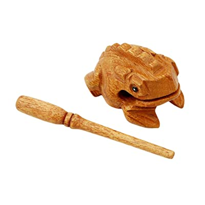 Flybloom Wooden Frog with Mallet Croaking Musical Toys Percussion Instrument for Children Playing: Home & Kitchen