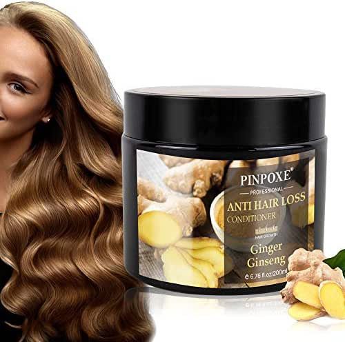 Hair Mask, Anti Hair Loss Conditioner, Hair Treatment, Deep Hair Conditioner with Ginger Essence Extract, Restore Dry & Damaged Hair, Deep Conditioner Molecular Hair Roots Treatment